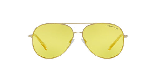 Michael Kors - MK5016 Shiny Light Gold Aviator Unisex Sunglasses - 60mm