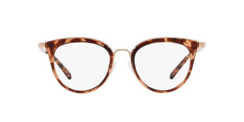 Michael Kors - Aruba Shiny Rose Gold/Clear Cat Eye Women Eyeglasses - 50mm