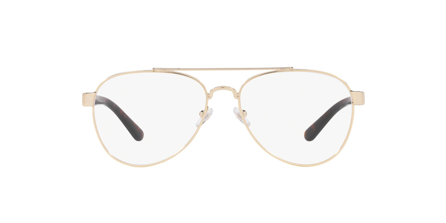 Tory Burch - TY1060 Light Gold Metal/Clear Aviator Women Eyeglasses - 54mm