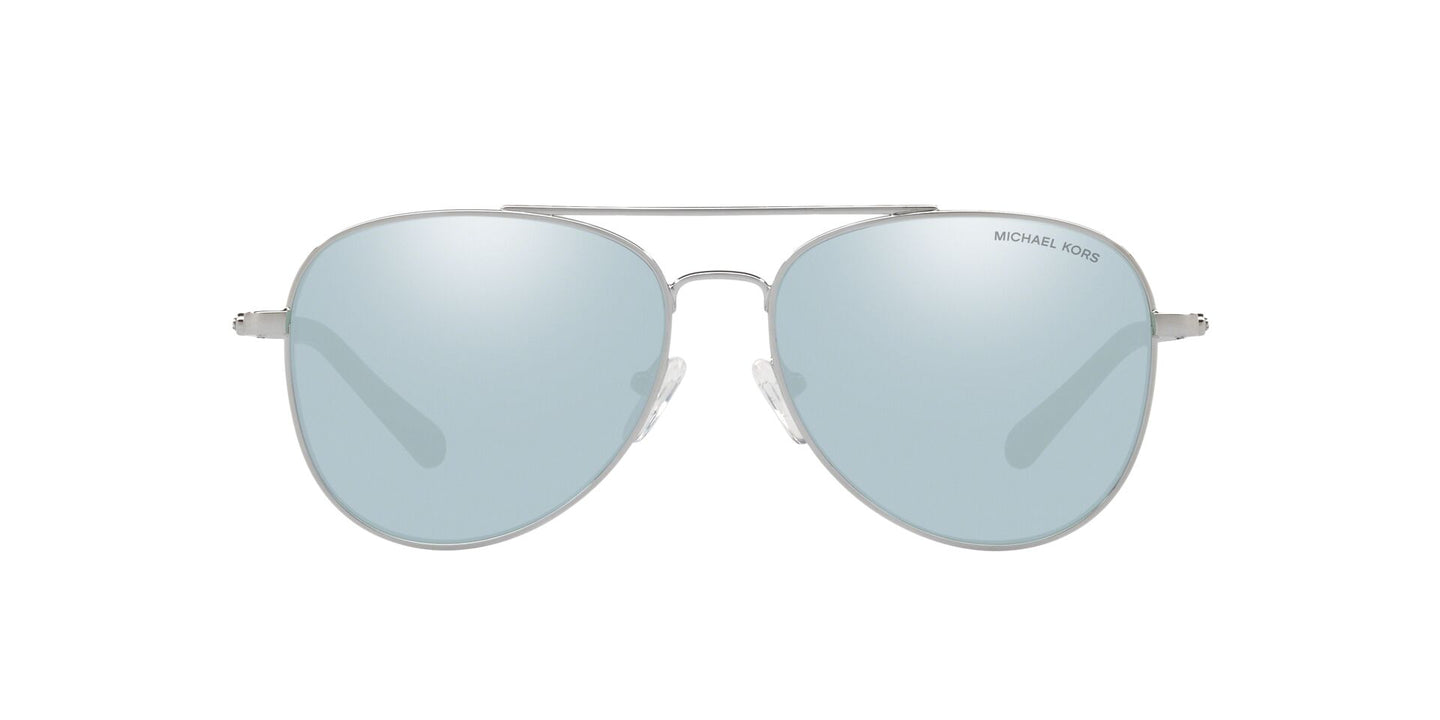 Michael Kors - MK1045 Silver Aviator Women Sunglasses - 56mm