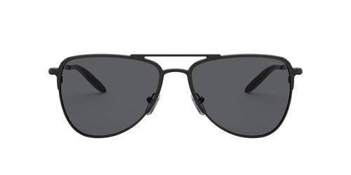 Michael Kors - MK1049 Matte Black As Proto Aviator Men Sunglasses - 59mm