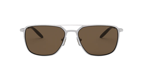 Michael Kors - MK1050 Shiny Silver Aviator Men Sunglasses - 57mm