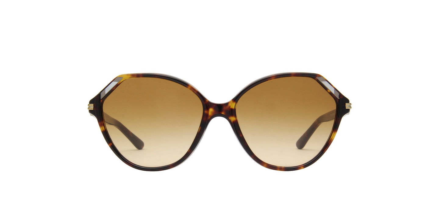 Tory Burch - TY7138 Dark Tortoise Geometric Women Sunglasses - 57mm