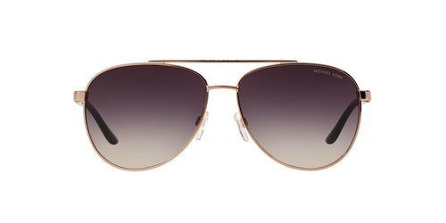 Michael Kors - MK5007 Rose Gold Aviator Women Sunglasses - 59mm