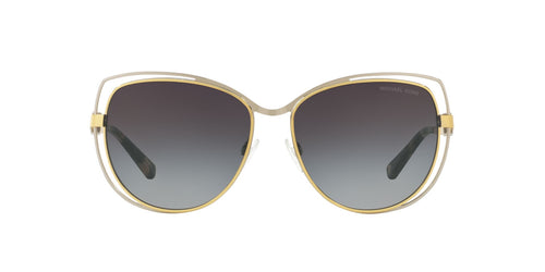 Michael Kors - MK1013 Silver/Gold Cat Eye Women Sunglasses - 58mm