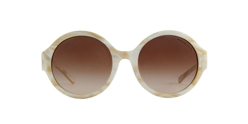 Michael Kors - MK2035F Ivory Horn Round Women Sunglasses - 55mm