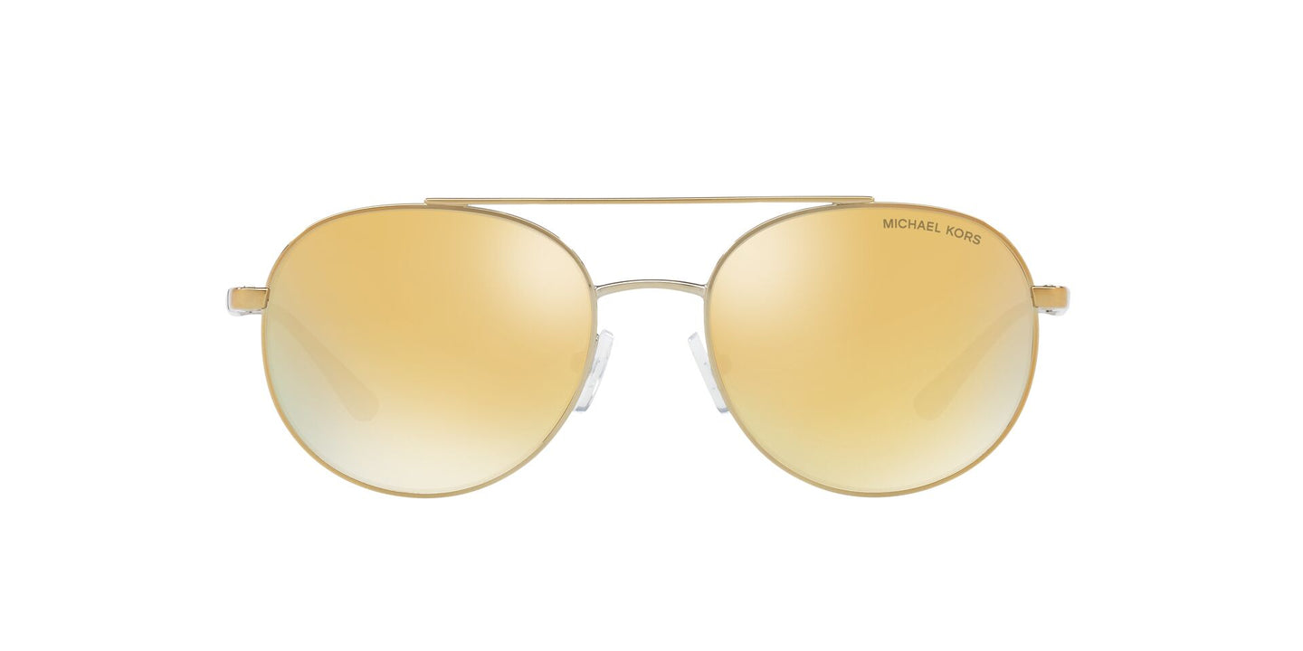 Michael Kors - MK1021 Gold-Tone Aviator Women Sunglasses - 53mm