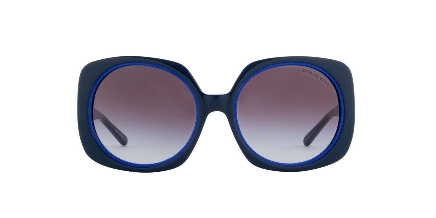 Michael Kors - MK2050  Blue Oversized Women Sunglasses - 55mm
