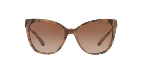 Michael Kors - MK2058F Brown Marble Square Women Sunglasses - 55mm
