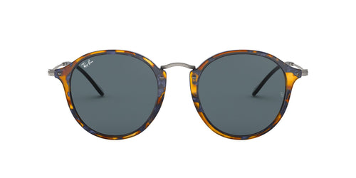 Ray Ban - Round Fleck Tortoise/Blue Oval Unisex Sunglasses - 49mm