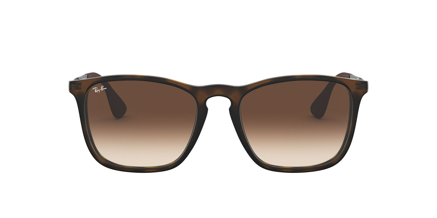 Ray Ban - Chris Tortoise/Brown Gradient Rectangular Women Sunglasses - 54mm