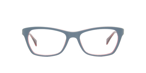 Ray Ban Rx - RX5298 Blue/Clear Rectangular Women Eyeglasses - 53mm