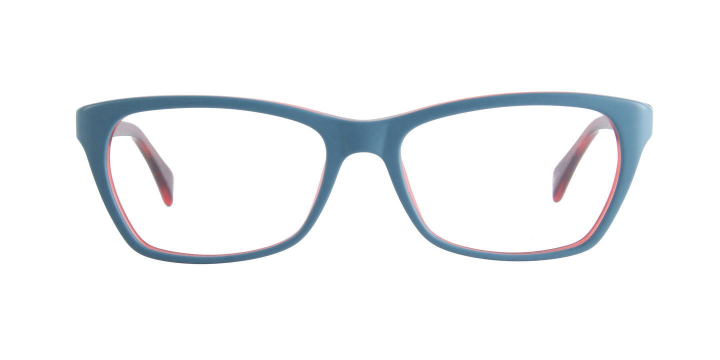 Ray Ban Rx - RX5298 Oil/Red Rectangular  Eyeglasses - 55mm