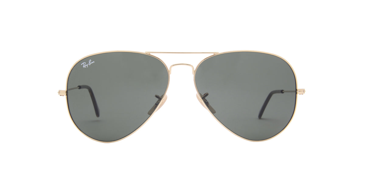 Ray Ban - Aviator Gold/Green Unisex Sunglasses - 62mm
