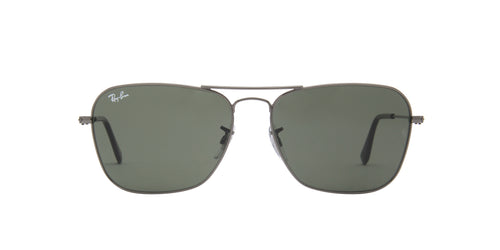 Ray Ban - Caravan Black/Green Aviator Unisex Sunglasses - 58mm