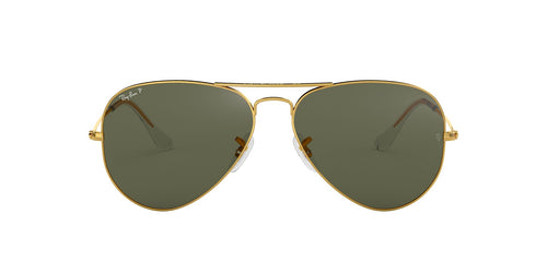 Ray Ban - RB3025 Gold Aviator Unisex Sunglasses - 55mm