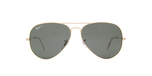 Ray Ban - Aviator Gold/Green Polarized Unisex Sunglasses - 62mm