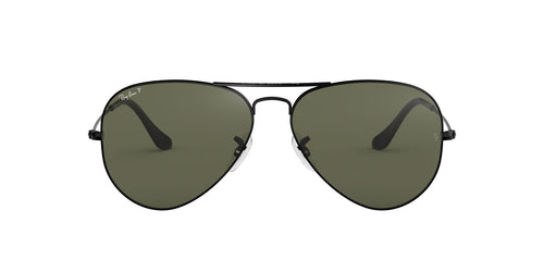 Ray Ban - RB3025 Black Aviator Unisex Sunglasses - 55mm