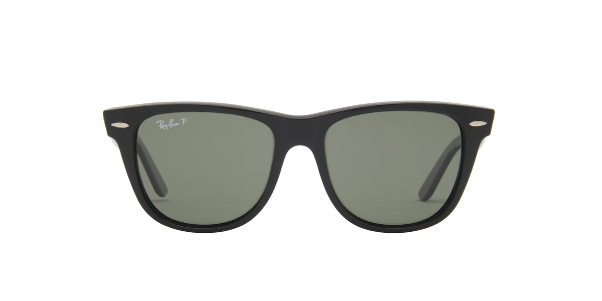 Ray Ban - Original Wayfarer Black/Green Polarized Unisex Sunglasses - 54mm