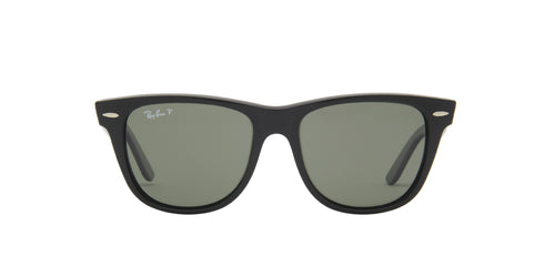 Ray Ban - Original Wayfarer Black/Green Polarized Wayfarer Unisex Sunglasses - 54mm