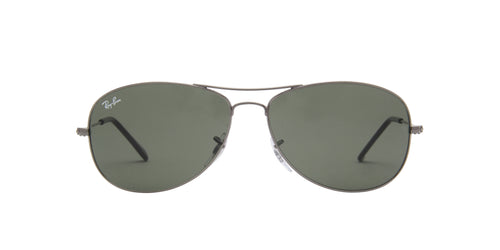 Ray Ban - Cockpit Silver/Green Aviator Unisex Sunglasses - 59mm