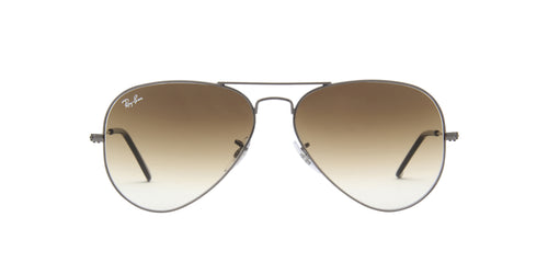 Ray Ban - Aviator Gray/Brown Gradient Unisex Sunglasses - 58mm