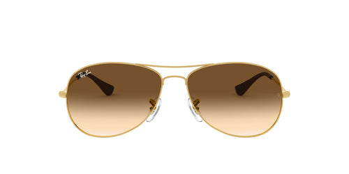 Ray Ban - RB3362 Gold Aviator Unisex Sunglasses - 56mm