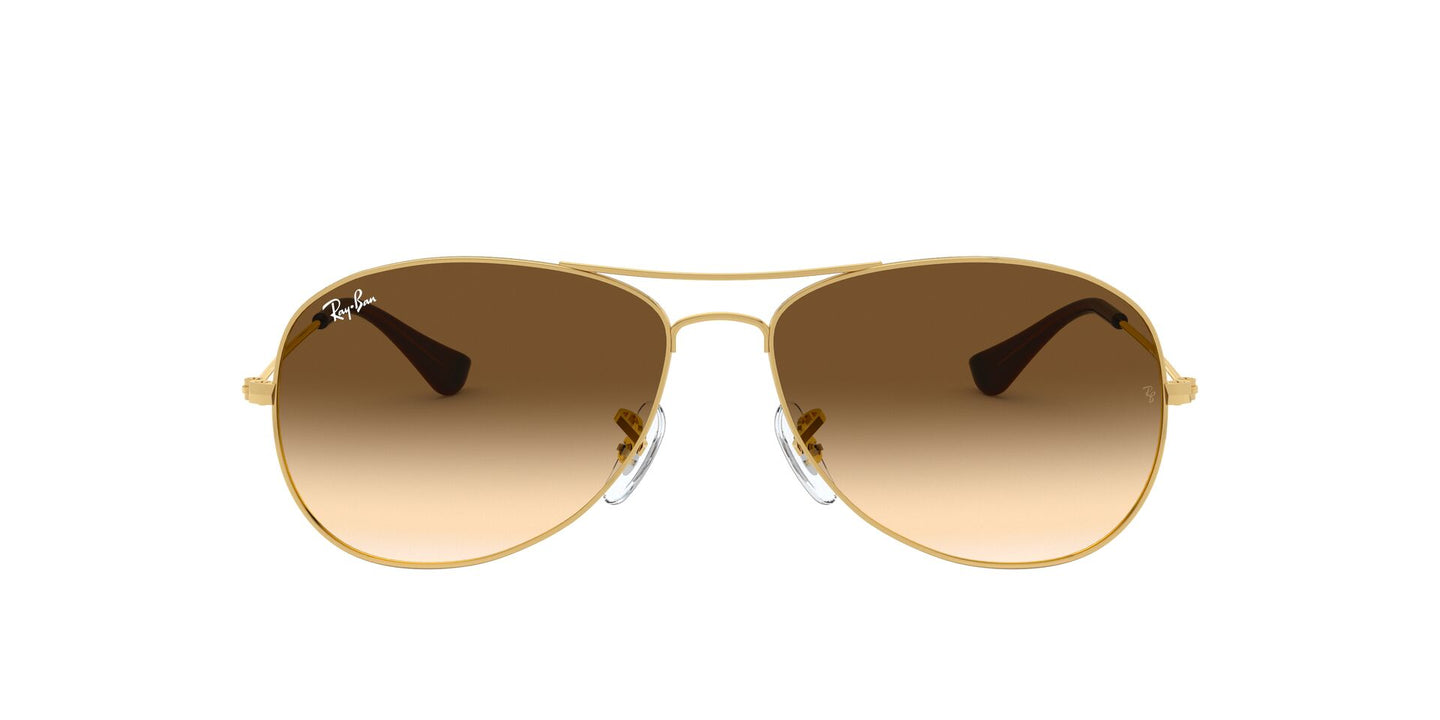 Ray Ban - Cockpit Gold/Brown Gradient Aviator Unisex Sunglasses - 56mm