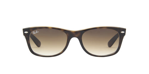 Ray Ban - New Wayfarer Light Havana/Brown Gradient Square Unisex Sunglasses - 52mm