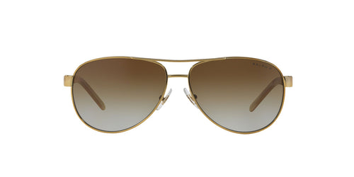 Ralph- Polo - RA4004 Gold/Cream Aviator Women Sunglasses - 59mm