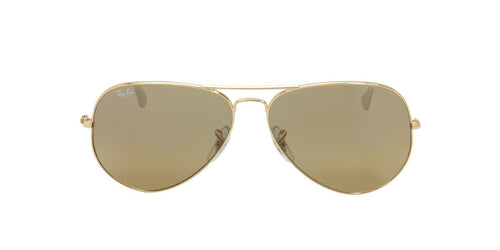 Ray Ban - Aviator Gradient Gold/Brown Unisex Sunglasses - 62mm