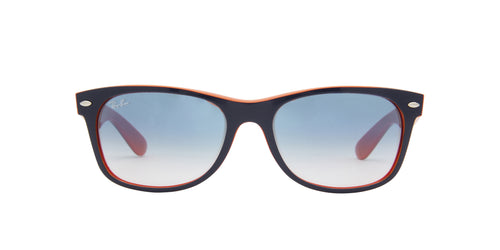 Ray Ban - New Wayfarer Color Mix Blue Orange/Light Blue Gradient Square Unisex Sunglasses - 55mm
