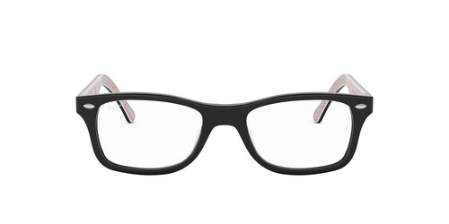 Ray Ban Rx - RX5228 Top Black On Texture White Square Unisex Eyeglasses - 53mm