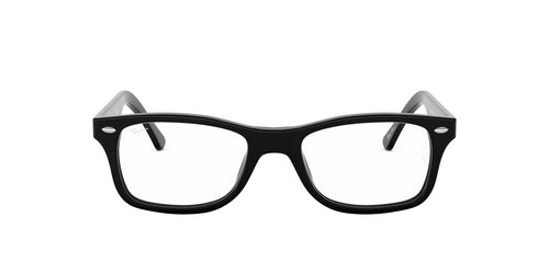 Ray Ban Rx - RX5228 Shiny Black Square Unisex Eyeglasses - 53mm