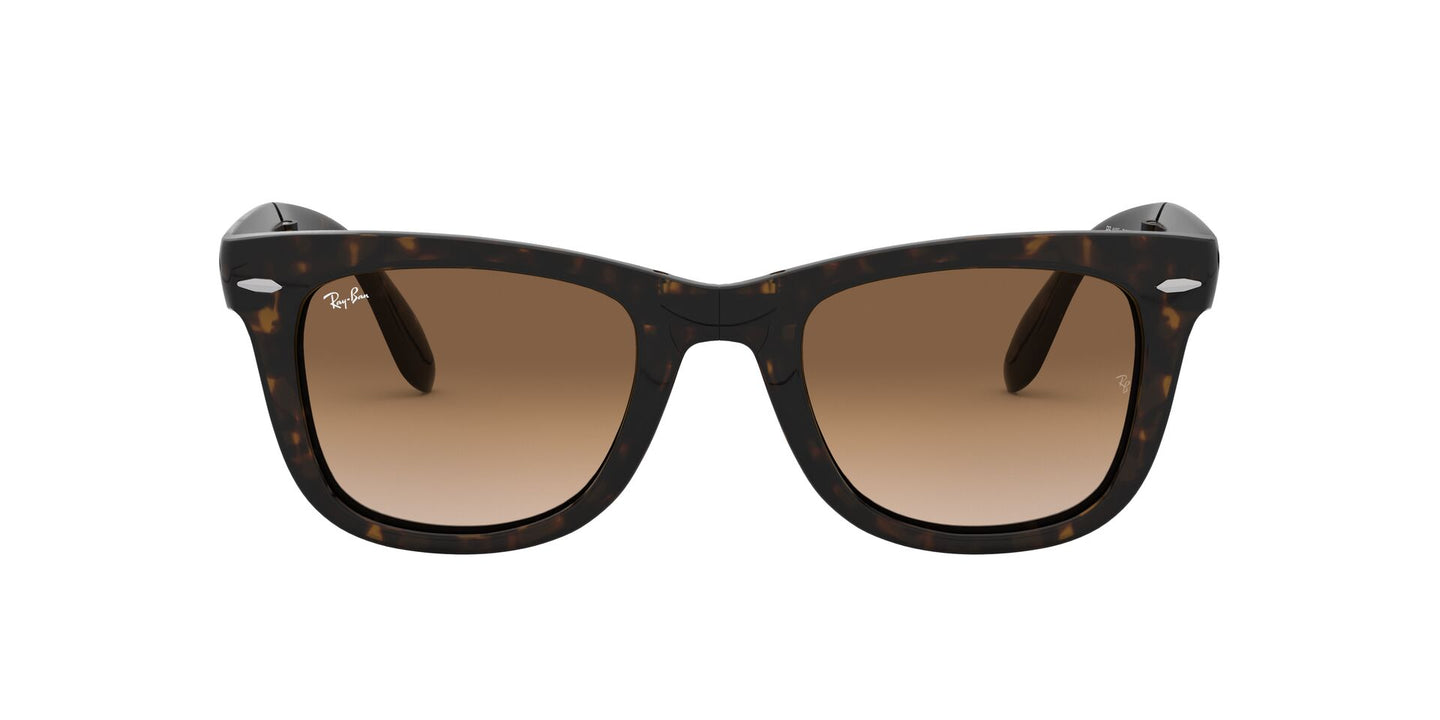 Ray Ban - Folding Wayfarer Tortoise/Brown Gradient Unisex Sunglasses - 50mm