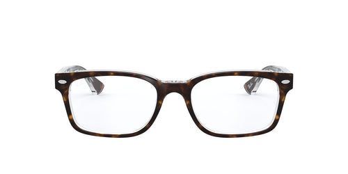 Ray Ban Rx - RX5286 Top Havana On Transparent Square Women Eyeglasses - 51mm