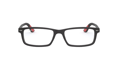 Ray Ban Rx - RX5277 Sandblasted Black Rectangle Men Eyeglasses - 54mm