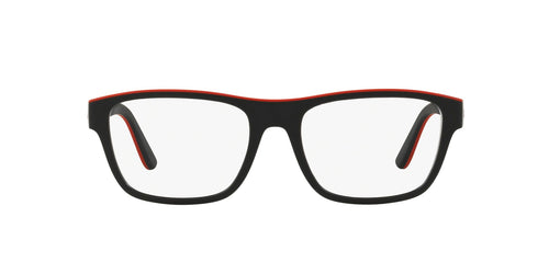 Ralph- Polo - PH2199 Matte Black/Rubber Red Pillow Men Eyeglasses - 53mm