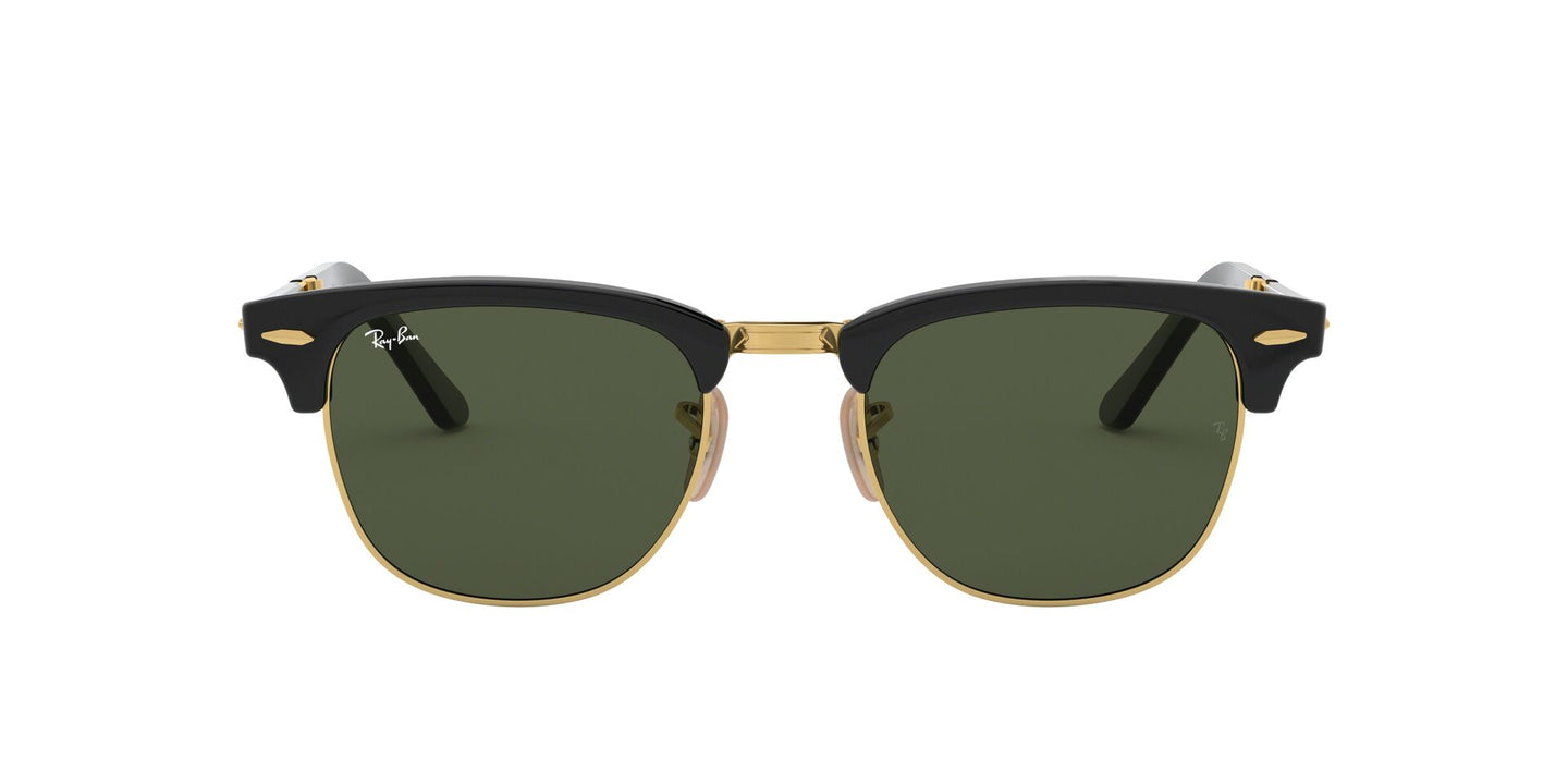 Ray Ban - RB2176 Black/Green Gradient Rectangular Unisex Sunglasses - 51mm