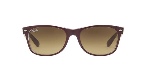 Ray Ban - New Wayfarer Purple/Brown Gradient Unisex Sunglasses - 55mm