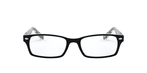 Ray Ban Rx - RX5206 Top Black On Transparent Rectangle Men Eyeglasses - 54mm