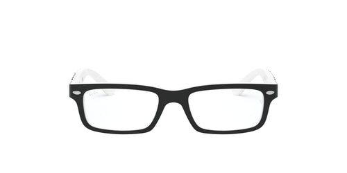 Ray Ban Jr - RY1535 Top Black On White Rectangle Men Eyeglasses - 48mm