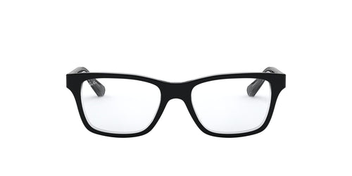 Ray Ban Jr - RY1536 Top Black On Transparent Square Unisex Eyeglasses - 48mm