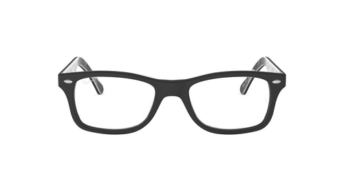 Ray Ban Rx - RX5228 Top Mat Black On Tex Camuflage Square Unisex Eyeglasses - 53mm