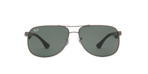 Ray Ban - RB3502 Gray/Green Aviator Men Sunglasses - 61mm