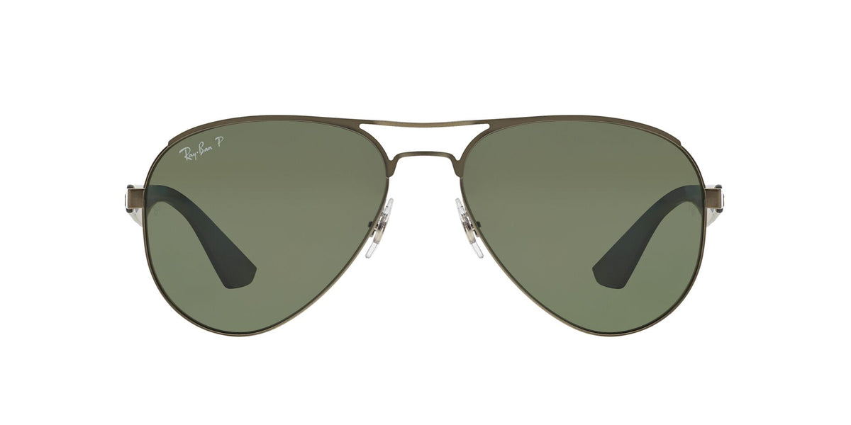 Ray Ban - RB3523 Gray/Green Polarized Aviator Men Sunglasses - 59mm