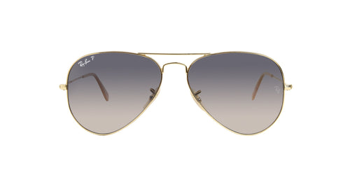 Ray Ban - Aviator Gold Aviator Men Sunglasses - 58mm