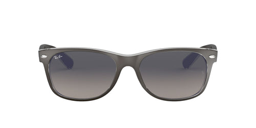 Ray Ban - New Wayfarer Color Mix Top Brushed Gunmetal On Transp/Grey Gradient Square Unisex Sunglasses - 55mm