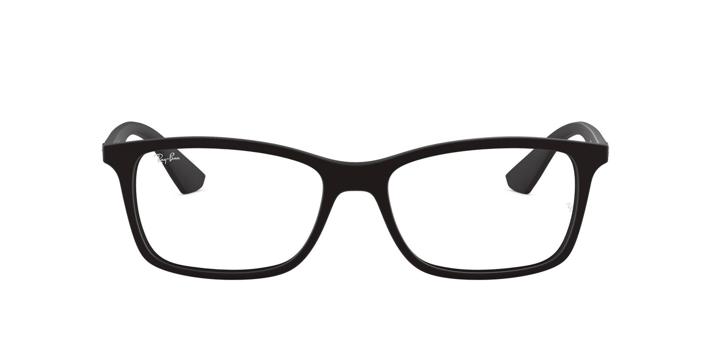 Ray Ban Rx - RB7047 Black Rectangular Unisex Eyeglasses - 54mm