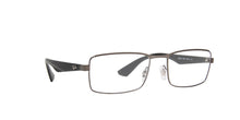 Ray Ban Rx - RX6332 Black Rectangle Men Eyeglasses - 55mm